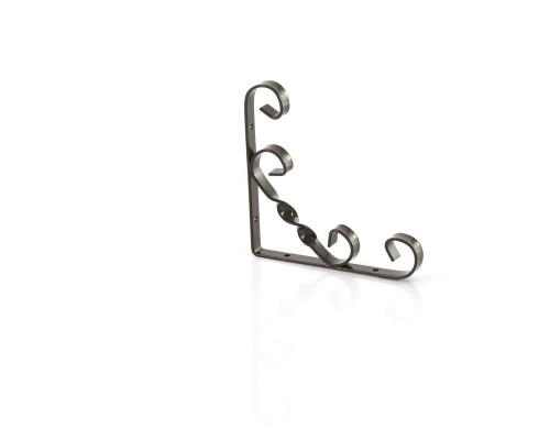Кронштейн декоративный, 100 х 100 мм, коричневый Сибртех