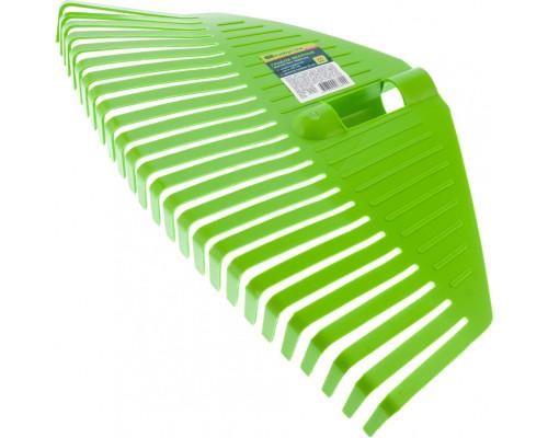 Грабли веерные пластиковые, 420 мм, 26 плоских зубьев, без черенка, Россия Сибртех