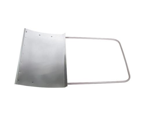 Движок для уборки снега алюминиевый, 755х505х1240 мм, стальная рукоятка, Россия Сибртех