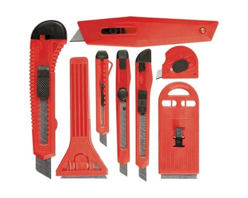 Набор ножей, выдвижные лезвия, 9 мм-3 шт., 18 мм-2 шт., скребки 40 и 52 мм Matrix