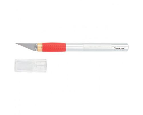 Нож для дизайнерских работ, двухкомпонентная рукоятка, 5 запасных лезвий Matrix