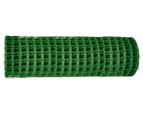 Решетка заборная в рулоне, 1,5х25 м, ячейка 75х75 мм, пластиковая, зеленая Россия