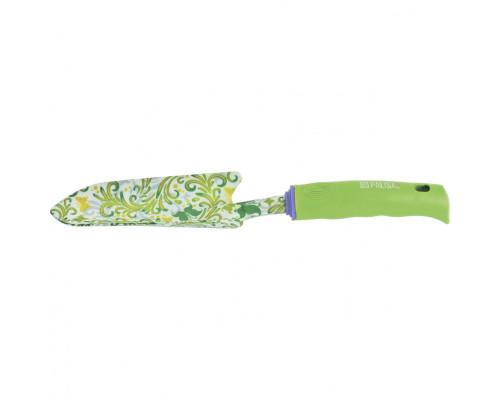 Совок посадочный узкий, 55 х 320 мм, стальной, пластиковая рукоятка, Flower Green Palisad