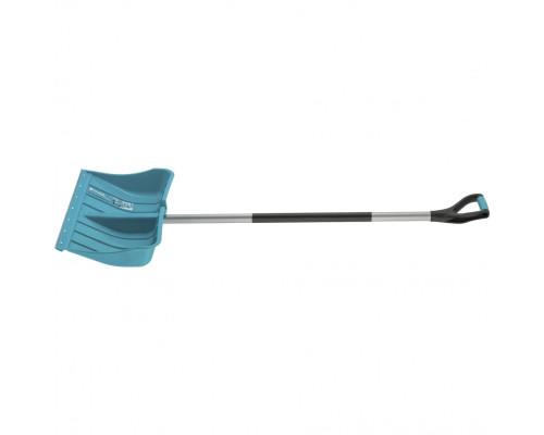 Лопата для уборки снега пластиковая LUXE, 540х375х1520 мм, стальной черенок, Palisad