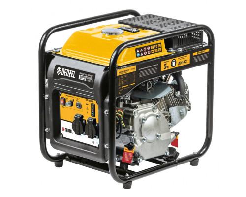 Генератор инверторный GT-2500iF, 2,5 кВт, 230 В, бак 5 л, открытый корпус,  ручной старт Denzel