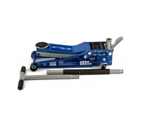 Домкрат гидравлический подкатной 3 т, быстрый подъем, Low profile quick lift, 75-505 мм, профессиональный STELS
