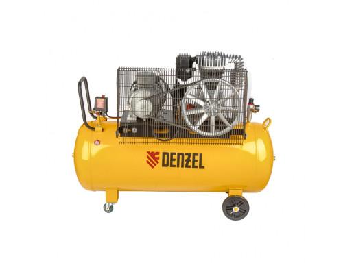Компрессор DR4000/200, масляный ременный, 10 бар, производительность 690 л/м, мощность 4 кВт Denzel