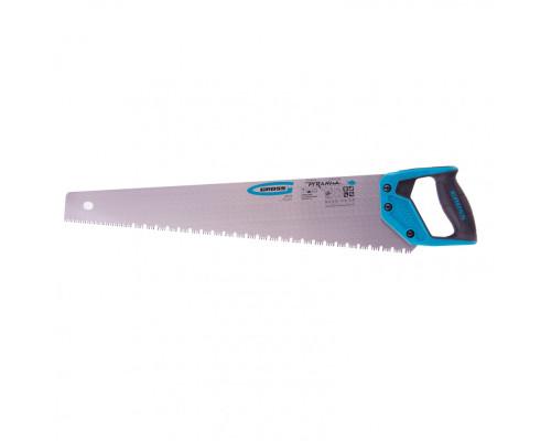 """Ножовка по дереву """"Piranha"""", 550 мм, сегментное строение рабочей кромки, 7-8 TPI, зуб-3D, двухкомпонентная рукоятка Gross"""