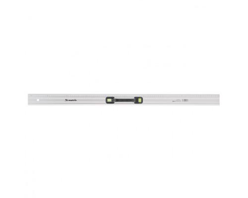 Линейка-уровень, 1000 мм, металлическая, пластмассовая ручка 2 глазка Matrix Master