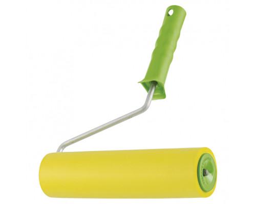Валик прижимной резиновый с ручкой, 240 мм, D ручки 8 мм Сибртех