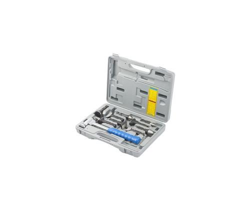 Набор рихтовочный, молоток цельнометаллический, обрезин. ручка, сменные бойки, 9 шт, в боксе Matrix