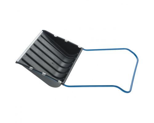 Движок для уборки снега пластиковый, 735х555х1250 мм, стальная рукоятка, Россия Сибртех