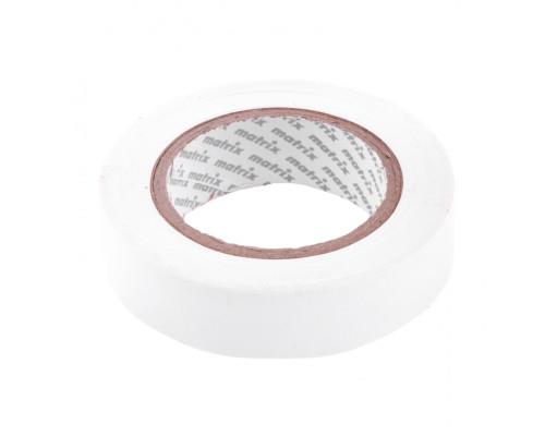 Изолента ПВХ, 15 мм х 10 м, белая, 150 мкм Matrix