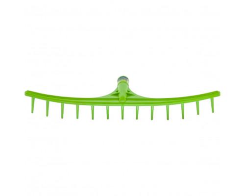 Грабли пластиковые, 655 мм, 13 круглых зубьев, сенные, без черенка, Россия Сибртех