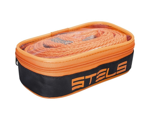 Трос буксировочный 10 т, 2 крюка, сумка на молнии Россия Stels