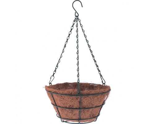 Кашпо подвесное с вкладышем из коковиты, конус D 35 см Palisad