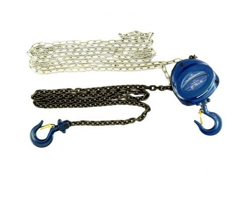 Таль цепная, 1 т, h подъема 2,5 м, расстояние между крюками 350 мм Stels