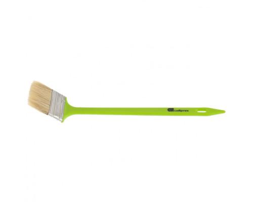 Кисть радиаторная 75 мм, натуральная щетина, пластиковая ручка Сибртех