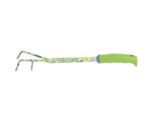 Рыхлитель 3-зубый, 55 х 385 мм, стальной, пластиковая рукоятка, Flower Green Palisad