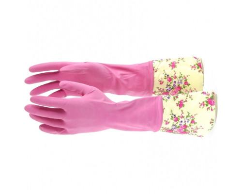 Перчатки хозяйственные латексные с манжетой, XL Elfe
