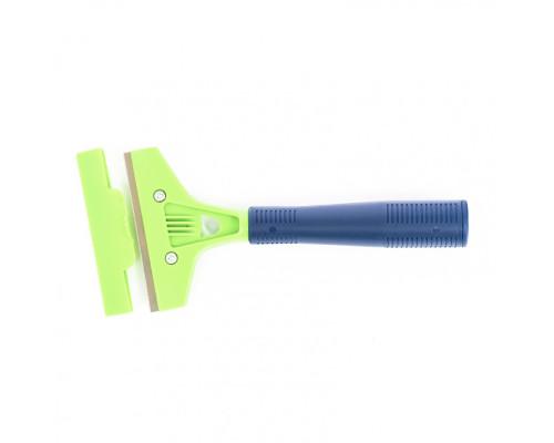 Скребок, лезвие 100 мм, пластиковая ручка, 200 мм Сибртех