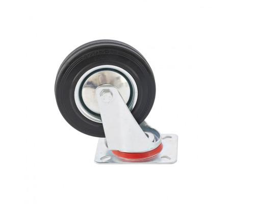 Колесо поворотное D 200 мм, крепление платформенное Сибртех