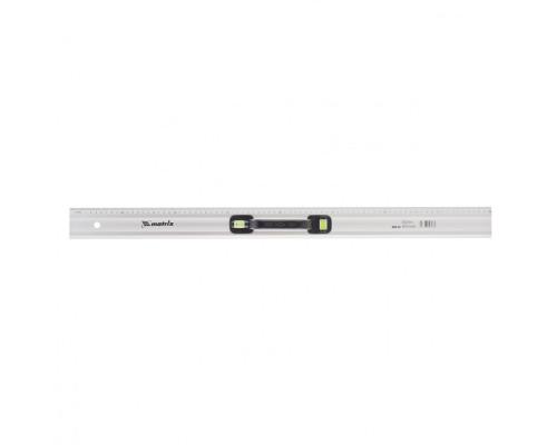 Линейка-уровень, 800 мм, металлическая, пластмассовая ручка 2 глазка Matrix Master