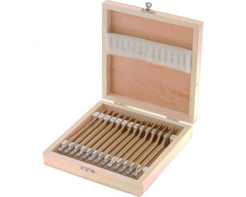 Набор сверл перовых по дереву, 6-8-10-12-13-14-16-18-19-20-22-24-25 мм, 13 шт, деревянный кейс Matrix