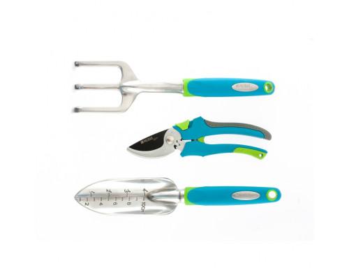 Набор садового инструмента с секатором, алюминиевый цельнолитой, 3 предмета, Luxe Palisad