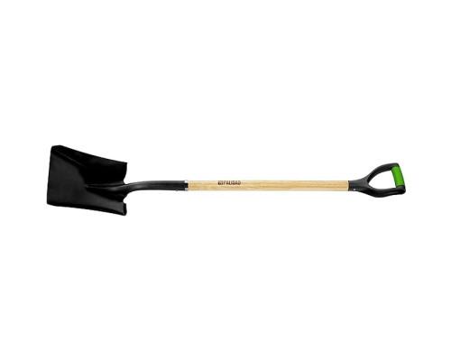 Лопата совковая, эргономичный черенок из вяза, двухкомпонентная рукоятка, общая длина 1250 мм Palisad