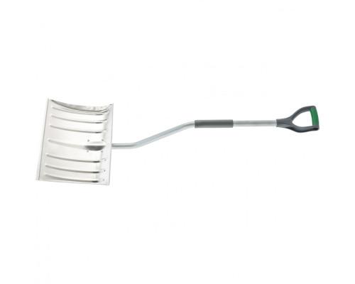 Лопата для уборки снега алюминиевая, 465х340х1300 мм, стальной черенок, Palisad