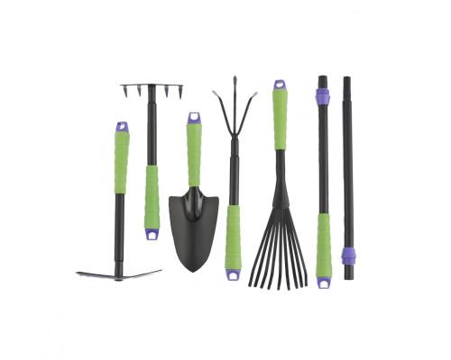 Набор садового инструмента, пластиковые рукоятки, 7 предметов, Connect Palisad