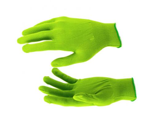 Перчатки Нейлон, 13 класс, цвет изумрудный, L Россия