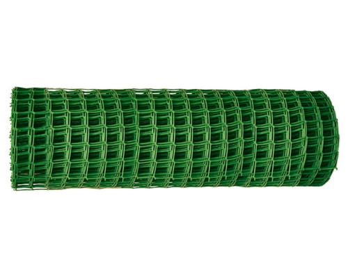 Решетка заборная в рулоне, 1,3х20 м, ячейка 70х55 мм, пластиковая, зеленая Россия