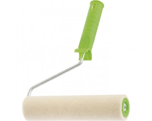 """Валик """"Велюр"""" с ручкой, 200 мм, ворс 5 мм, D 36 мм, D ручки 6 мм Россия Сибртех"""